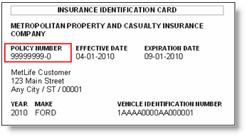 How To Find Insurance Policy Number Of A Car
